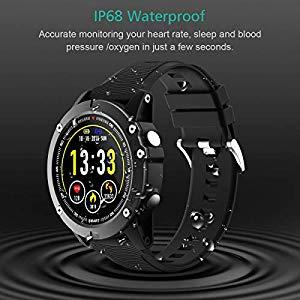 holyhigh bluetooth smartwatch fitness tracker sport uhr smart watch mit ip68 wasserdicht. Black Bedroom Furniture Sets. Home Design Ideas